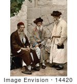 #14420 Picture Of A Group Of Men In Jerusalem Israel