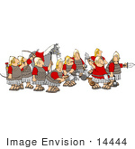 #14444 Group Of Roman Soldiers And Horse Using Flail Ball And Chains Bows And Arrows Catapults Axes And Swords Clipart