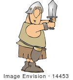 #14453 Soldier With A Sword Clipart