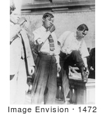 #1472 Photo Of Three Men With Prosthetic Arms Standing And Smoking Cigarettes