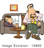 #14800 Psychiatrist In A Session With His Patient Clipart