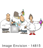 #14815 Group Of Scientists Working In A Laboratory Clipart