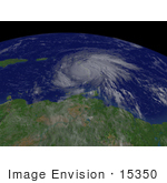 #15350 Picture Of Hurrican Dean Near Martinique