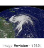#15351 Picture Of Hurricane Dean Near San Juan