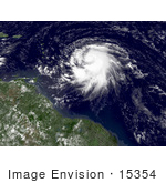 #15354 Picture Of Hurricane Dean In The Atlantic Ocean