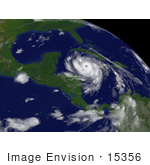 #15356 Picture Of Hurricane Dean To The East Of Belize City