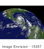 #15357 Picture Of Hurricane Dean East-Southeast Of Campeche Mexico