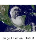 #15360 Picture Of Hurricane Dean In The Bay Of Campeche