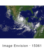 #15361 Picture Of Hurricane Dean Near Tuxpan Mexico