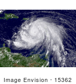 #15362 Picture Of Hurricane Dean As A Category 3 Hurricane