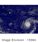 #15364 Picture Of Hurricane Flossie Near Hawaii