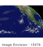 #15376 Picture Of Tropical Depression 03e Near Mexico