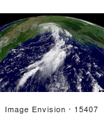 #15407 Picture Of Tropical Depression Erin Over Texas