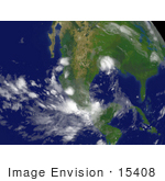 #15408 Picture Of Tropical Depression Erin Near Corpus Christi