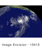 #15415 Stock Photo Of Tropical Storm Cosme Near Hilo