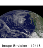 #15418 Stock Photo Of Tropical Storm Gil