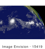 #15419 Stock Photo Of Tropical Storm Flossie