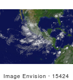 #15424 Stock Photo Of Tropical Depression Dean