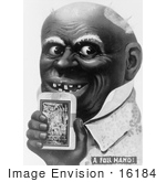 #16184 Picture Of An African American Caricature Man Holding A Tobacco Pack