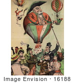 #16188 Picture Of Francesco Crispi As A Balloon Caricature