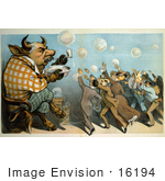 #16194 Picture Of A Caricature Of John Pierpont Morgan As A Bull