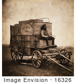#16326 Picture Of Marcus Sparling With Roger Fenton'S Photographic Van