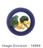 #16994 Picture Of Steamed Broccoli And Melted Cheddar Cheese On A Plate