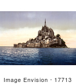 #17713 Picture Of Mont St Michel At High Tide Normandy France