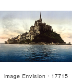 #17715 Picture Of Mont St Michel Abbey At High Tide Normandy France
