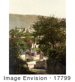 #17799 Photo Of The Ruins Of Tintern Abbey On A Hilltop Overlooking The Village In Tintern England