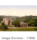#17808 Photo Of The Ruins Of Furness Abbey (St Mary Of Furness) In Front Of The Fountains Abbey Cumbria England