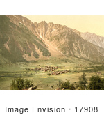 #17908 Picture Of The Village Of Guttannen In A Valley Grimselstrasse Bernese Oberla