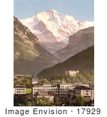 #17929 Picture Of Hotels By Mountains In The Swiss Alps Interlaken Bernese Oberland Switzerland