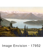 #17952 Picture Of Lake Lauerz And Swiss Alps Mountains Rigi Rothhorn Vitznau Rigi Switzerland