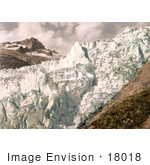 #18018 Picture Of The Jagged Surface Of The Rhone Glacier Valais Swiss Alps Switzerland