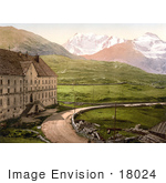#18024 Picture Of A Hospice Building Along The Simplon Pass Valais Switzerland