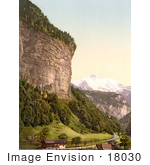 #18030 Picture Of Lauterbrunnen Valley And Jungfrau Mountain Bernese Oberland Switzerland