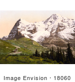 #18060 Picture Of Wengern Alp Monch And Eiger Mountains Bernese Oberland Switzerland