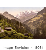 #18061 Picture Of Kienthal And Alpine Hut In Bernese Oberland Switzerland