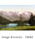#18062 Picture Of A Forest Around Lake Champex Near The Swiss Alps Valais Switzerland