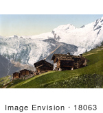 #18063 Picture Of The Village Of Saas Fee Valais Switzerland