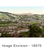 #18070 Picture Of The Village Of Saint-Leonard And The Santis Mountains St Gall Switzerland