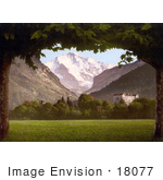 #18077 Picture Of Jungfrau Mountain As Seen From Hoheweg Bernese Oberland Switzerland