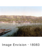 #18083 Picture Of The Village Of Zug On The Shore Of Lake Zug Switzerland