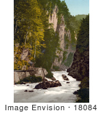 #18084 Picture Of The Linth River In The Ravine Of The Murg Glarus Switzerland