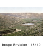 #18412 Photo Of Solomon'S Pools Pools Of Solomon Water Cisterns In Etam Wady Urtas Bethlehem Holy Land Nein Israel