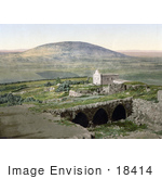 #18414 Photo Of The Church And Mount Tabor In Nain Galilee Holy Land Israel