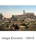 #18415 Photo Of The Tomb Of Samuel Nebi-Samuel Plain Of Mizpah Holy Land Israel