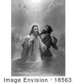 #18563 Photo Of A Ray Of Light From Heaven On The Baptism Of Jesus Christ