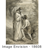#18608 Photo Of Jesus Christ Restoring Sight To A Blind Man